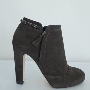 Chanel Chain-Trim Ankle Boots Glitter Suede Boot